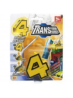 Цифра-Трансформер 4 «Истребитель» (Трансбот Боевой Расчет) / 5 см.