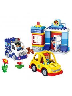 Конструктор StaPaw Police Station «Полиция со светом» 3804 (Аналог LEGO DUPLO) 49 деталей