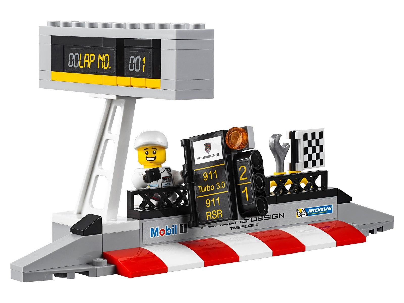 Конструктор Lp Racings «Porsche 911 RSR и 911 Turbo 3.0» 28018 (Speed Champions 75888) 438 деталей