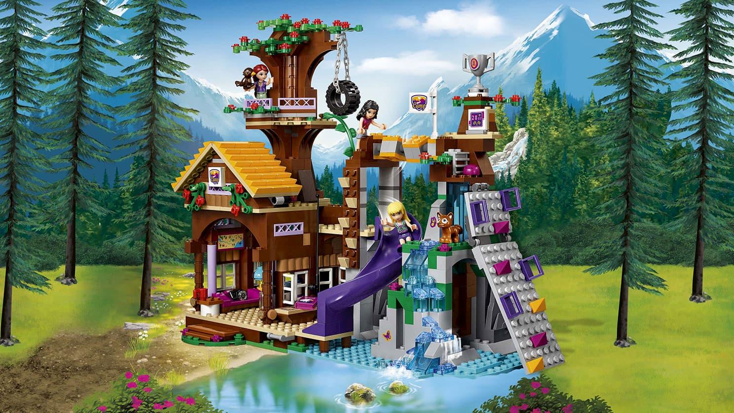 Конструктор Lp «Спортивный лагерь: дом на дереве» 01047 ( Френдс 41122) / 739 детали