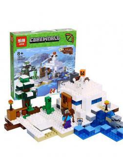 Конструктор Lp «Снежное укрытие» 18018 (Minecraft 21120) 338 деталей