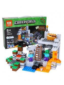 Конструктор Lp «Пещера» 18016 (Minecraft 21113) 249 деталей