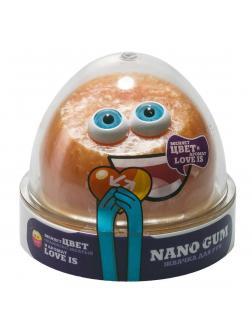 Жвачка для Рук NANO GUM «Оранжево-желтый с ароматом Love is» / 50 гр.