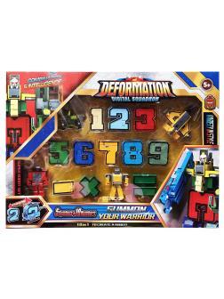 Трансботы Deformation Digital Squadron (5 символов и 10 цифр в 1 наборе)