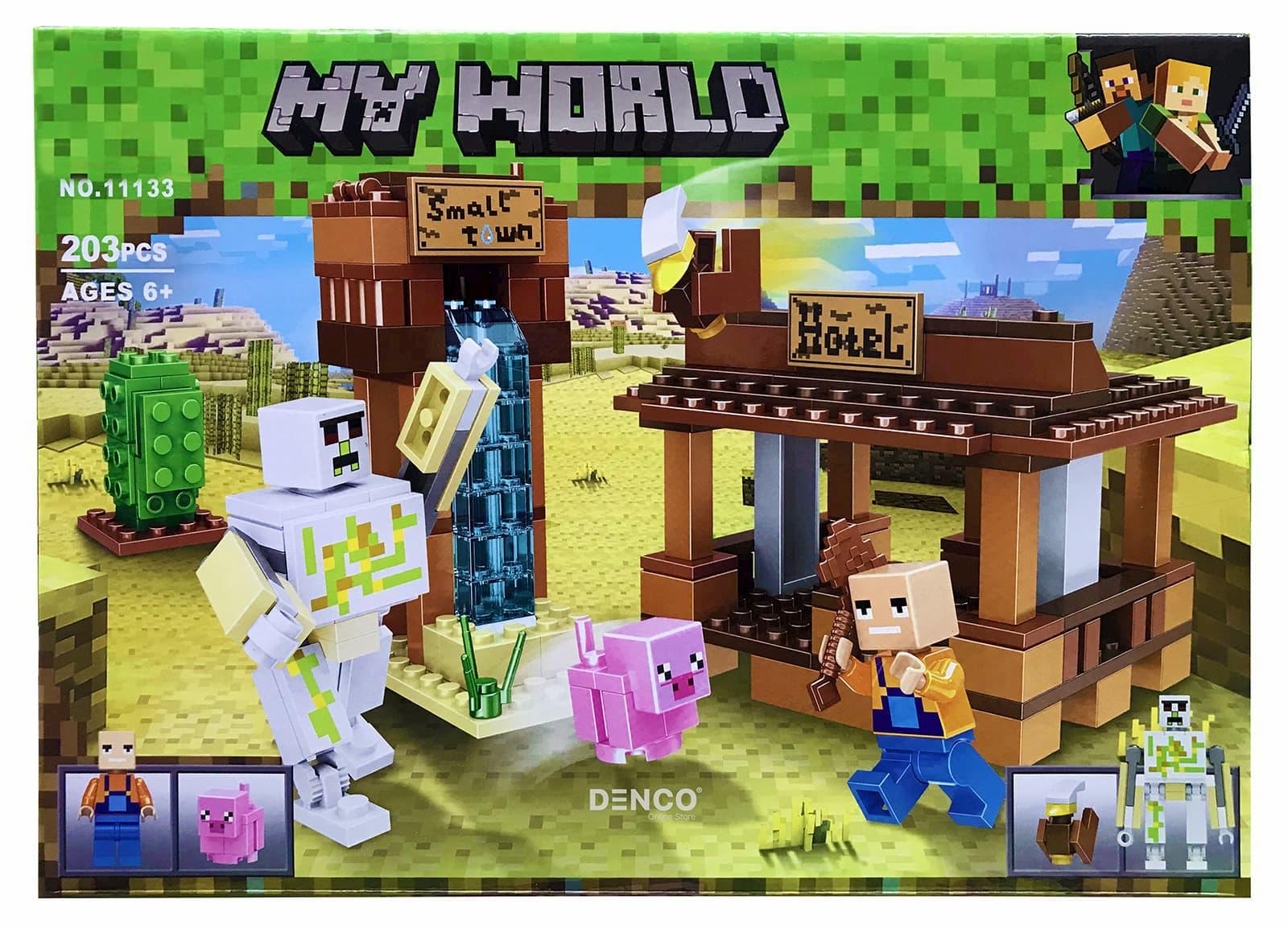 Конструктор Lari «Мини отель» 11133 Minecraft / 203 детали