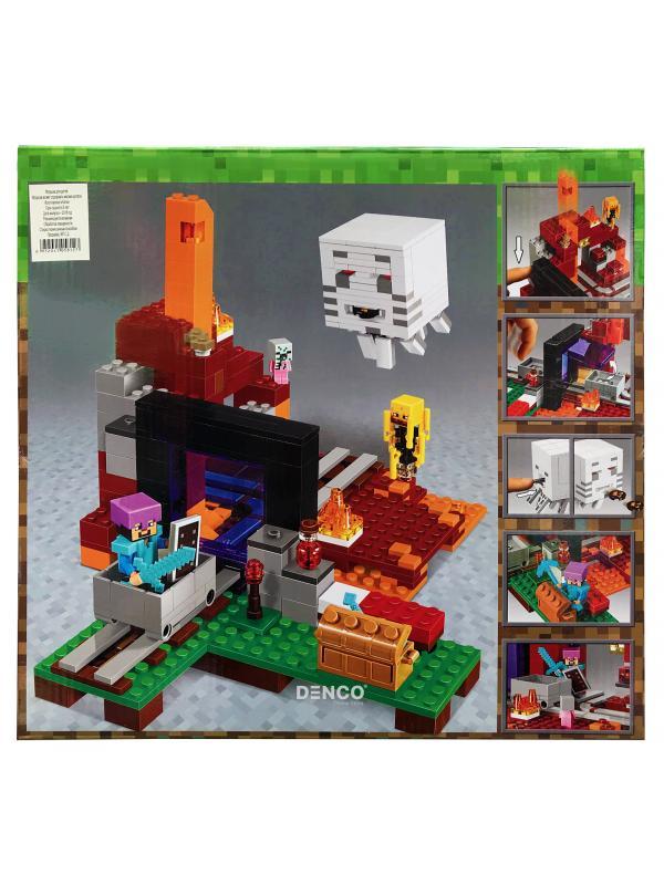 Конструктор Bl «Портал в подземелье» 10812 (Minecraft 21143) / 477 деталей