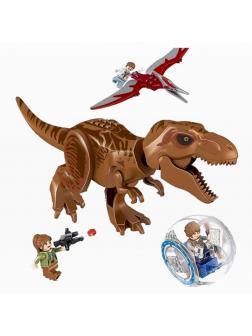 Конструктор 818 «Побег в гиросфере от Тиранозавра» 82028-1 (Jurassic World) / 86 деталей