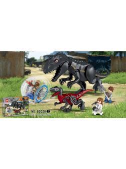 Конструктор 818 «Побег в гиросфере от Индоминус Рекса» 82028-2 (Jurassic World), 93 детали