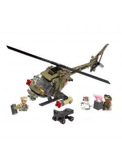 Конструктор XINGBAO «Военный вертолет» xb-06013, 621 деталь