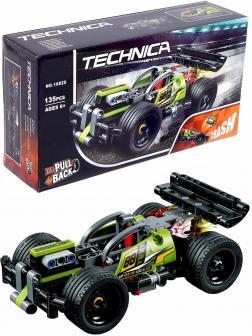 Конструктор «Зеленый гоночный автомобиль» 10820 (Technic 42072) / 135 деталей