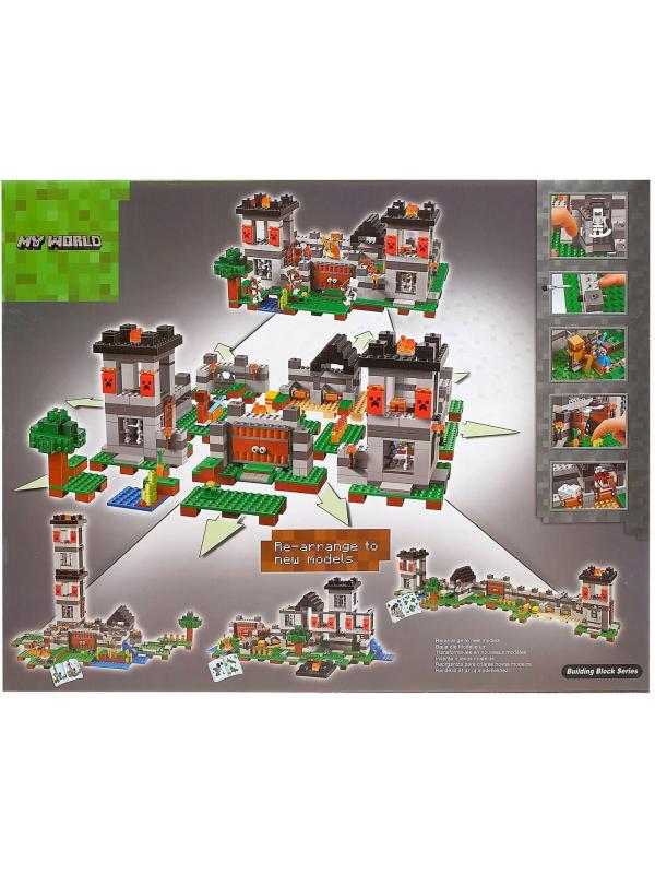 Конструктор «Крепость» 10472 (Minecraft 21127) / 990 деталей