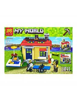 Конструктор Ll Minecraft «Отдых на природе» 33076 (Совместимый с ЛЕГО), 366 деталей