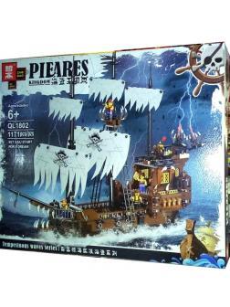 Конструктор Zhe Gao «Пиратская шхуна» QL1802 (Pirates of the Caribbean) 1171 деталь