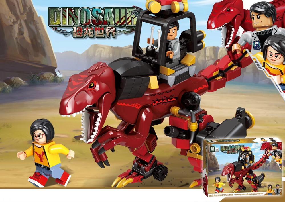 Конструктор ZHE GAO «Динозавр» QL1707, 272 детали