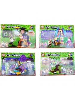 Конструктор PRCK «Мой мир: Волшебные герои Майнкрафт» 63024 (Minecraft), 4 вида