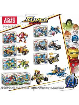 Конструктор JiSi Bricks «Мстители» 7018-7023 / 148-158 деталей / комплект 6 шт.