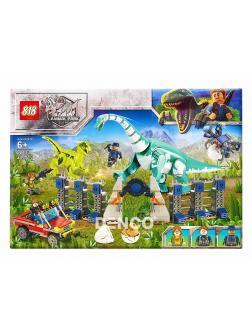 Конструктор 818 «Вольер с Брахиозавром» (Jurassic World) / 82133, 485 деталей