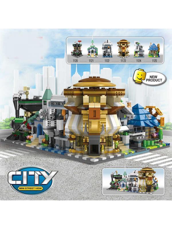 Конструктор DECOOL «Городские здания» 1120 (City) 251 деталь