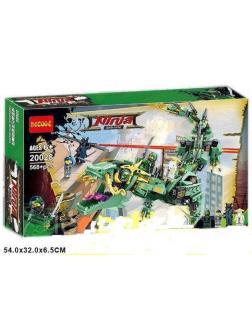 Конструктор Decool «Механический Дракон Зелёного Ниндзя» 20028 (НиндзяГо 70612) / 568 деталей