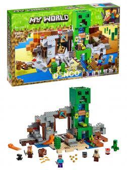Конструктор Lari «Шахта крипера» 11363 (Minecraft 21155) / 852 детали