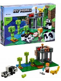 Конструктор Lari «Питомник панд» 11475 (Minecraft 21158) / 210 деталей
