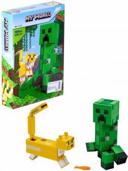 Конструктор Lari Большие фигурки «Крипер и Оцелот» 11474 (Minecraft 21156) / 184 детали