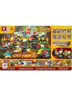 Конструктор Zhe Gao «Фигурки пожарных» QL0215 (City) 8 видов