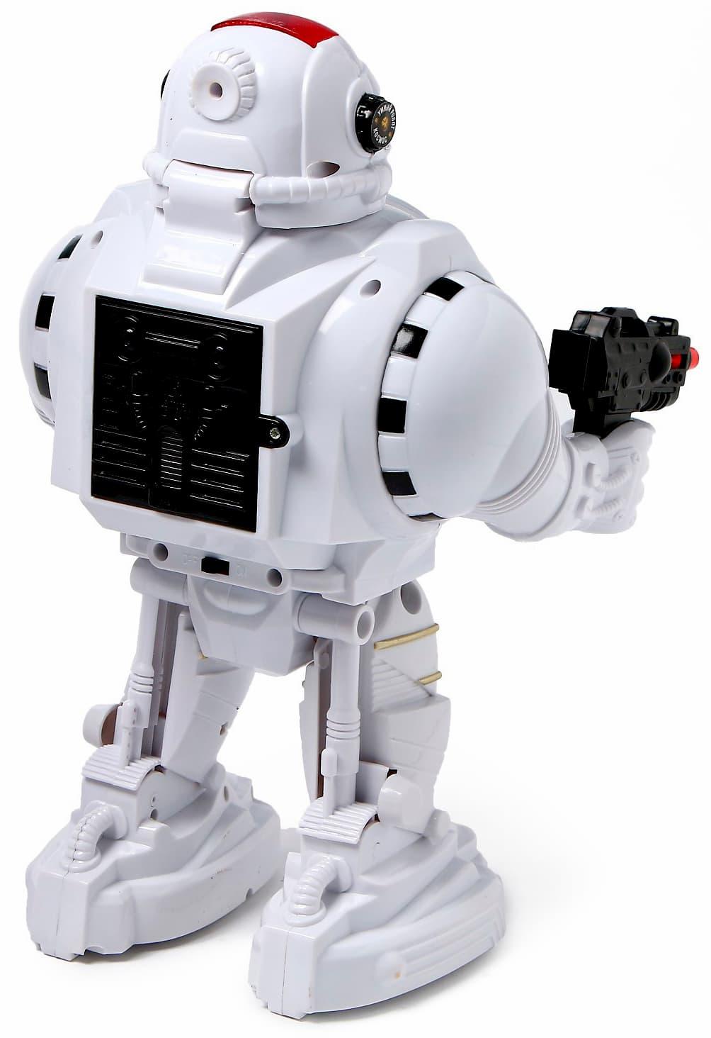 Робот на радиоуправлении Play Smart «Защитник планеты» 9185, световые и звуковые эффекты, стреляет, русская озвучка