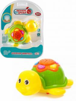 Музыкальная игрушка Play Smart «Озорная Черепаха» 7692 с проектором, подсветка, звук / Микс