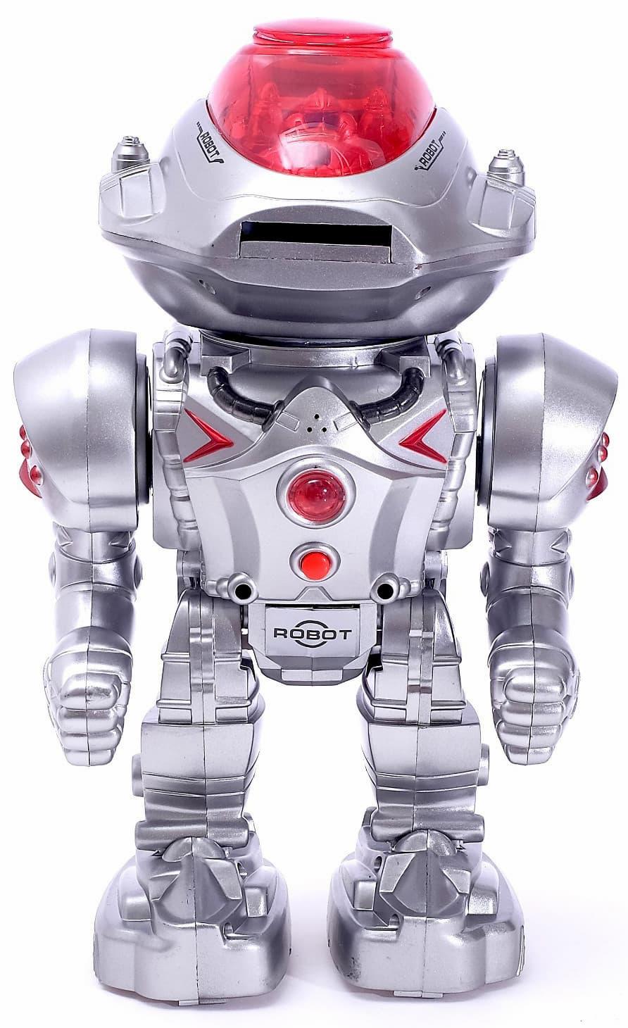 Робот радиоуправляемый Play Smart «Робовоин Страж» 9896, световые и звуковые эффекты, стреляет, работает от батареек