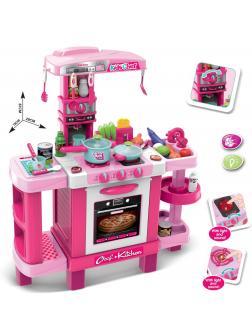 Кухня детская игровая интерактивная с микроволновкой, кофемашиной, тостером, высота 87 см., 008-938А / KIDS KITCHEN