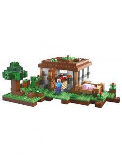 Конструктор Lp «Первая ночь» 18017 (Minecraft 21115) 408 деталей
