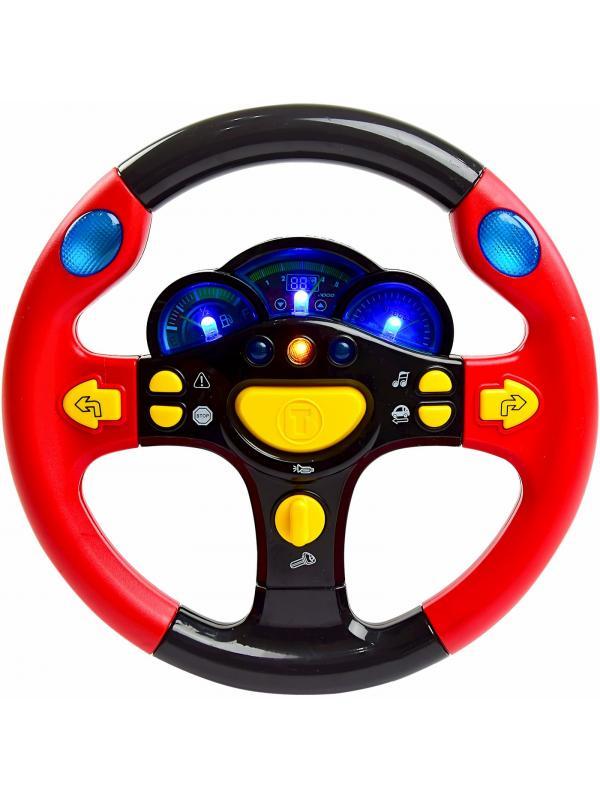 Музыкальный руль Play Smart «Я тоже рулю!» 7044 со звуком и светом / Микс