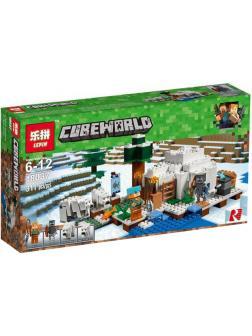 Конструктор Lp «Иглу» 18037 (Minecraft 21142) 311 деталей
