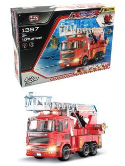 Конструктор с отверткой Play Smart Автомонтаж «Пожарный кран» 1397 105 деталей, свет и звук