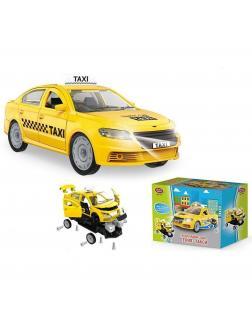 Конструктор-машина Play Smart с отверткой «Такси» со световыми и звуковыми эффектами 1379 / 36 деталей