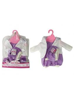 Одежда для куклы 38-43 см «Yale Baby» D25 / платьице, кофточка, шапочка, носочки