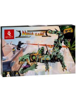 Конструктор Queen «Механический дракон зеленого ниндзя» 89037 (НиндзяГо 70612) / 592 детали