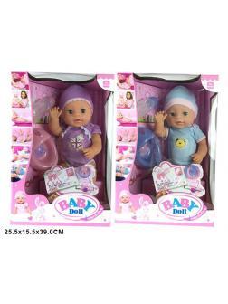 Интерактивная кукла Baby Doll с аксессуарами, высота 40 см, 2 вида / 1710YLD