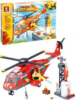 Конструктор Zhe Gao «Пожарный вертолет» QL0218 (City) 252 детали