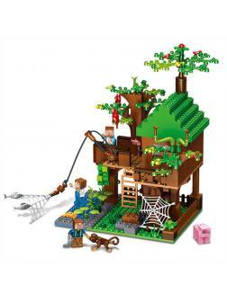 Конструктор QUNLONG «Дом у реки» QL0531 (Minecraft) 443 детали