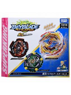 Набор из 3-х Волчков BEYBLADE Burst «Superking Triple Booster Set» B-171 от Takara Tomy