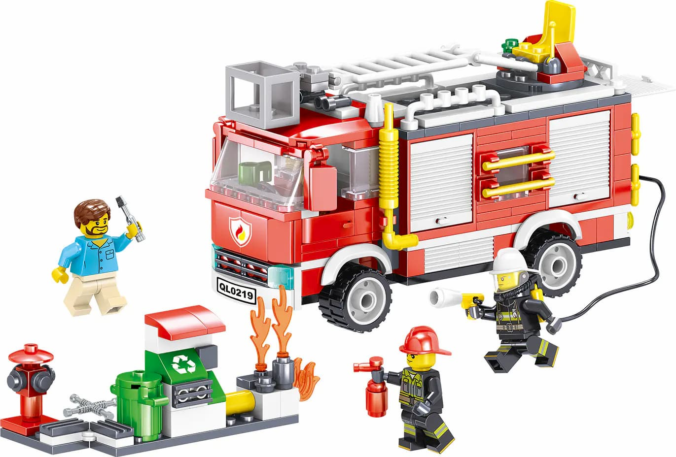Конструктор Zhe Gao «Пожарный патруль» QL0219 (City Hero) / 370 деталей