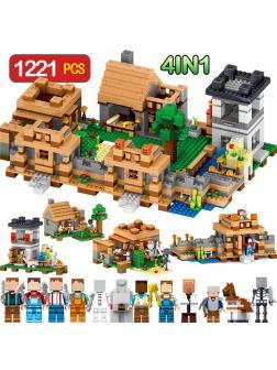Конструктор QUNLONG «Защита деревни» QL0512 (Minecraft) 1221 деталь
