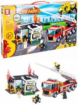 Конструктор Zhe Gao «Пожар на АЗС» QL0220 (City) 463 детали