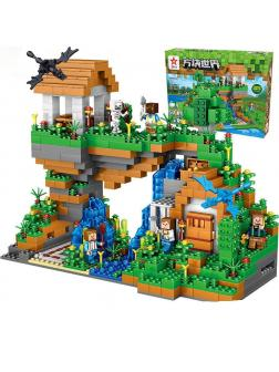 Конструктор QUNLONG «Большой дом у водопада» QL0507 (Minecraft) 957 деталей