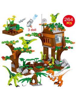 Конструктор Zhe Gao «Ферма динозавров» QL1703 (Jurassic World) 264 детали