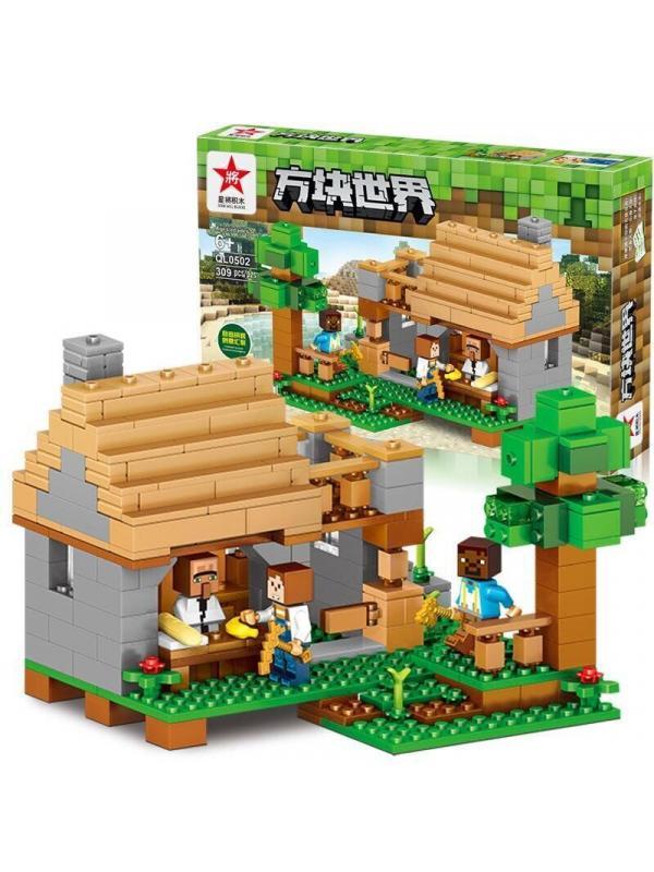 Конструктор QUNLONG «Дом в лесу» QL0502 (Minecraft) 309 деталей