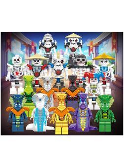 Набор 16 фигурок в 8 коробках (НиндзяГо) 61038
