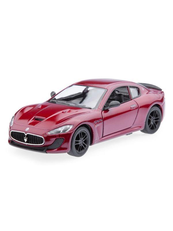 Металлическая машинка Kinsmart 1:38 «Maserati GranTurismo 2016» KT5395W инерционная в коробке / Микс